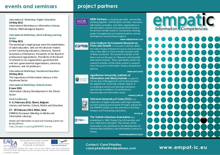 events and seminars                                                          project partners      International Workshop:...