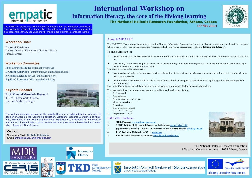 International Workshop on                                                                 Information literacy, the core o...