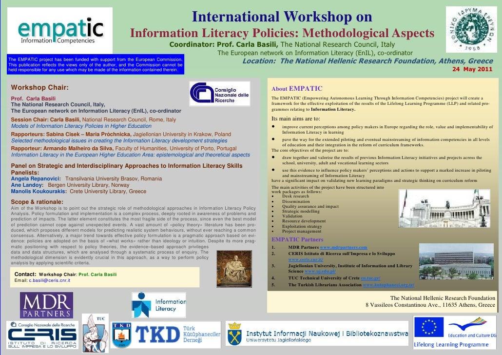 EMPATIC Workshop Poster - Higher Education Sector