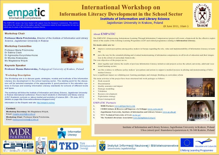 International Workshop on                                                                          Information Literacy De...