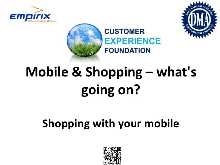 The future of shopping with your mobile phone