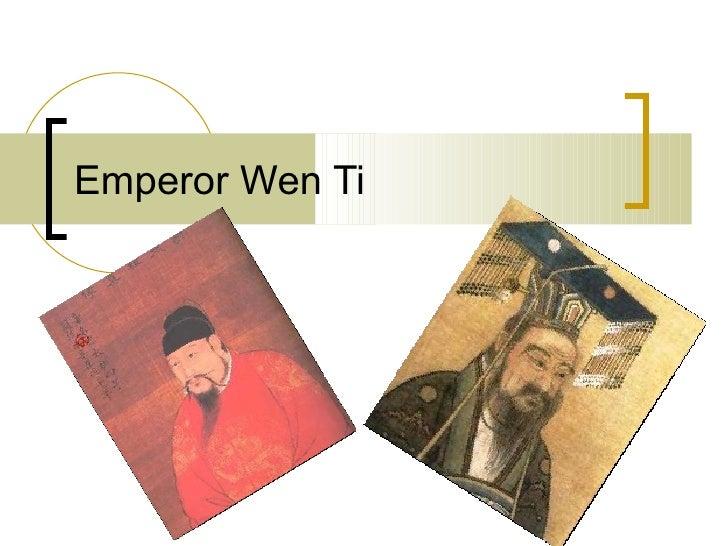 Emperor wen ti