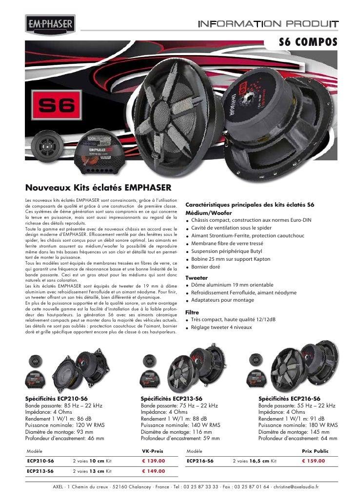 EMPHASER ECP213-S6 autoprestige-autoradio