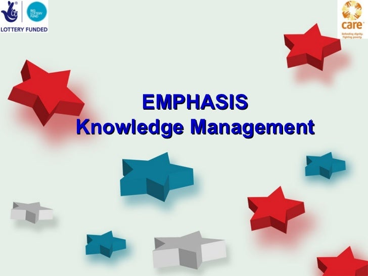 Emphasis introduction to km