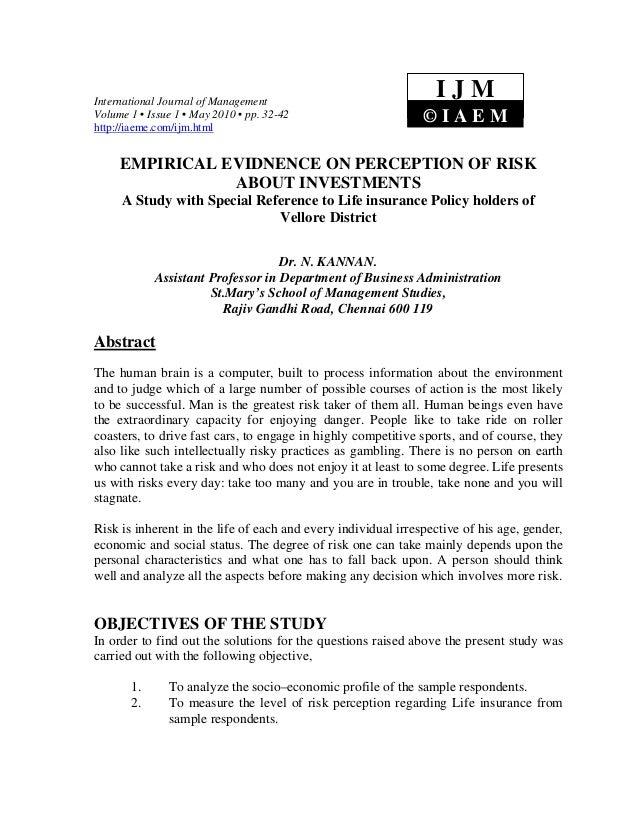 International Journal of Management                                                                 IJMVolume 1 • Issue 1 ...