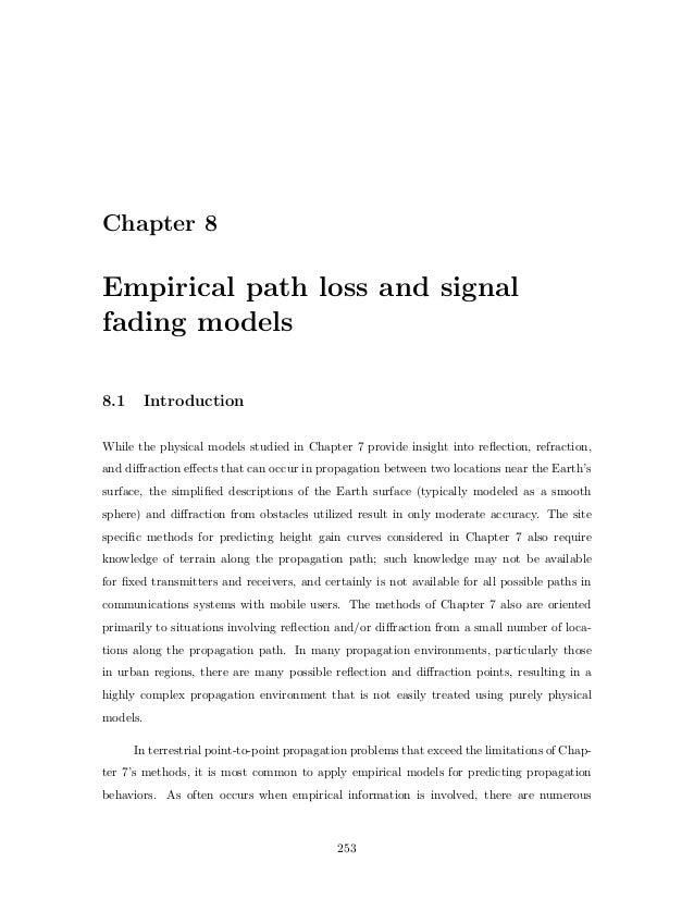 Empirical path loss