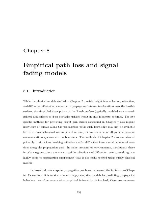 Empirical path loss