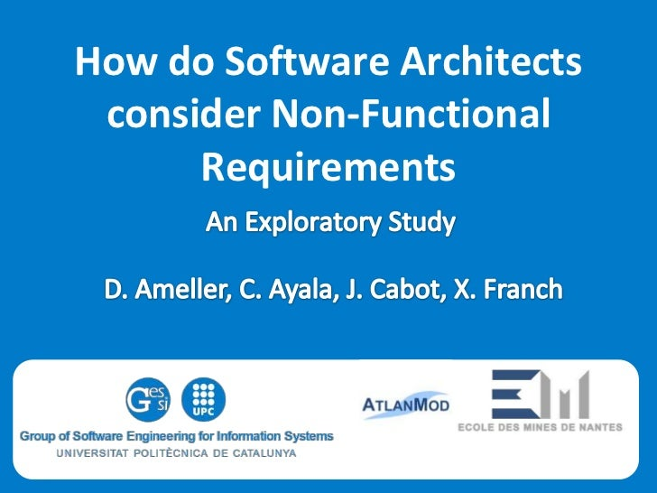 How do Software Architects consider Non-Functional      Requirements