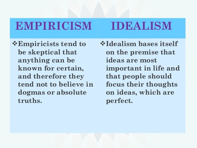 a personal take on the debate between rationalism and empiricism doc essay Plato's epistemology as empiricism called a form of rationalism the definition of empiricism used in this essay will need to establish experience from the.