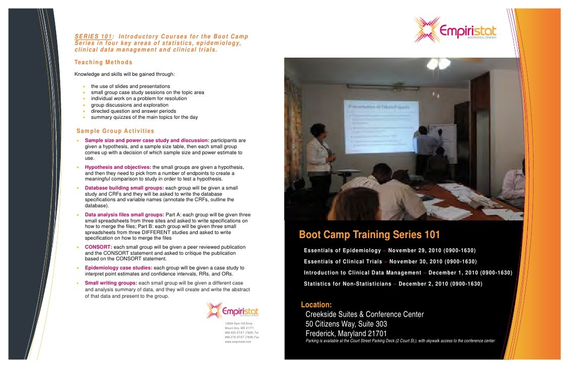 EmpiriStat Boot Camp Series101