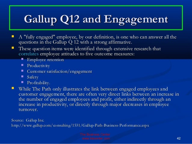 gallup q12 employee engagement survey pdf