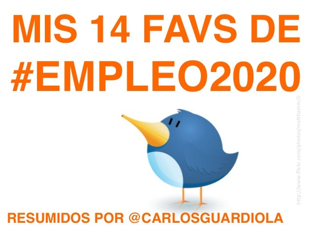 Mis 14 FAVs de #Empleo2020