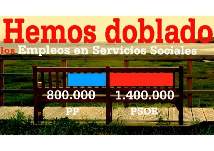 Empleo en servicios sociales duplicado