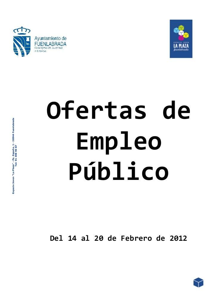 """Espacio Joven """"La Plaza"""" - Pz. España, 1 - 28944 Fuenlabrada                                                       Tel: 91..."""