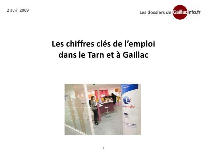 2 avril 2009                           Les dossiers de                    Les chiffres clés de l'emploi                  d...