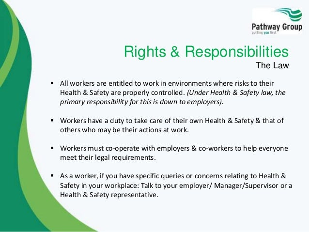 health and safety responsibilities in social Can the member of staff understand written information on health and safety law and risk assessment.