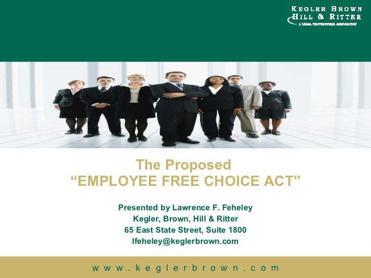 Implications of the Proposed Employee Free Choice Act