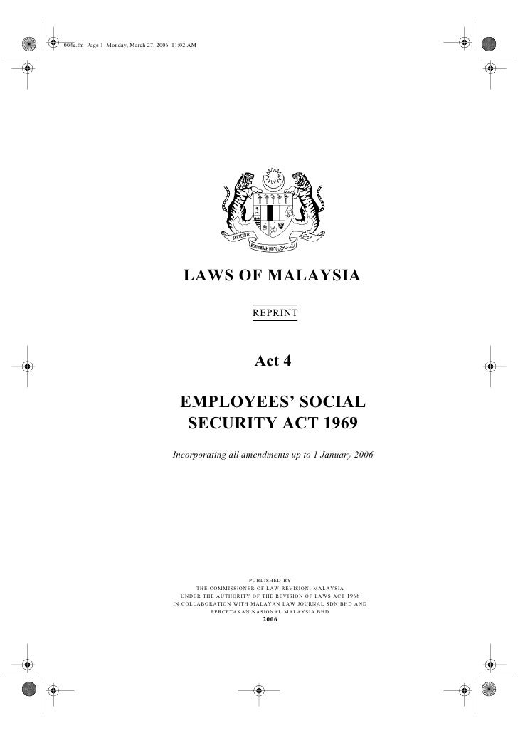 004e.fm Page 1 Monday, March 27, 2006 11:02 AM                                              LAWS OF MALAYSIA              ...