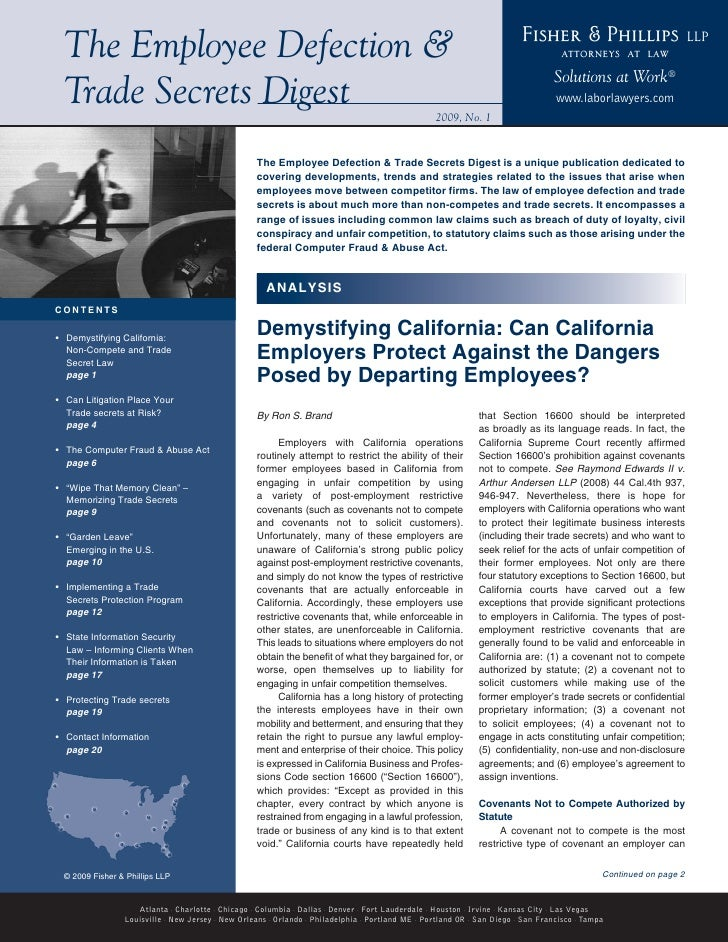 Fisher & Phillips                         LLP  The Employee Defection &                                                   ...