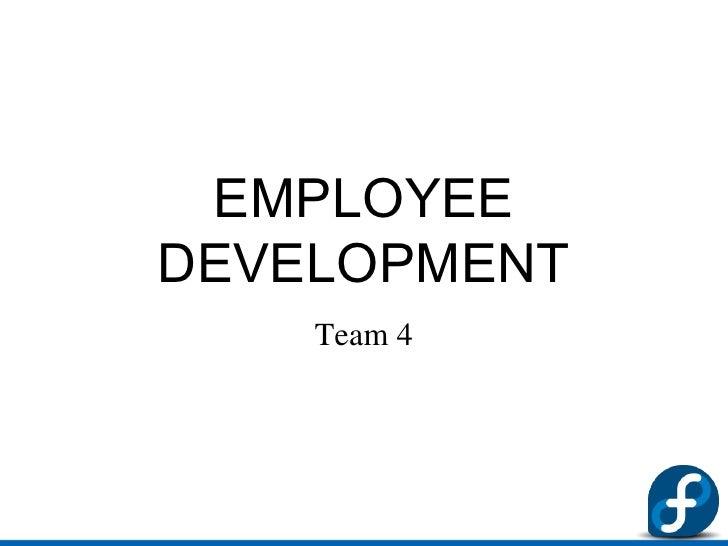 Employee development