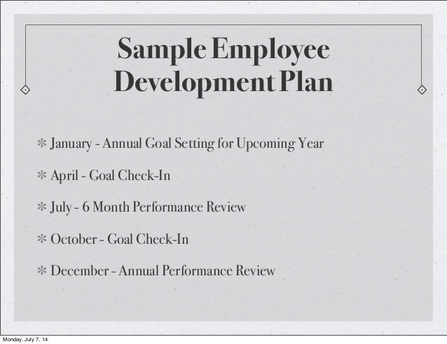 Employee Development Plan Sample – images free download