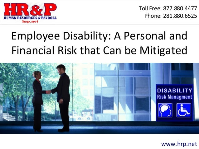Employee Disability: A Personal and Financial Risk that Can be Mitigated