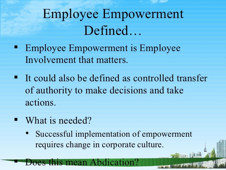 The YES! Youth Empowerment Model Definition