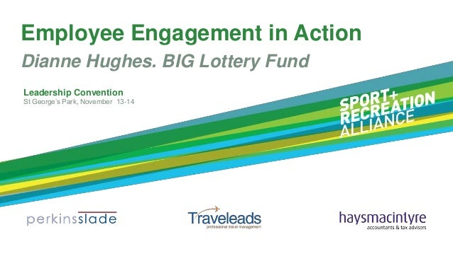 Employee Engagement in Action Dianne Hughes. BIG Lottery Fund Leadership Convention St George's Park, November 13-14
