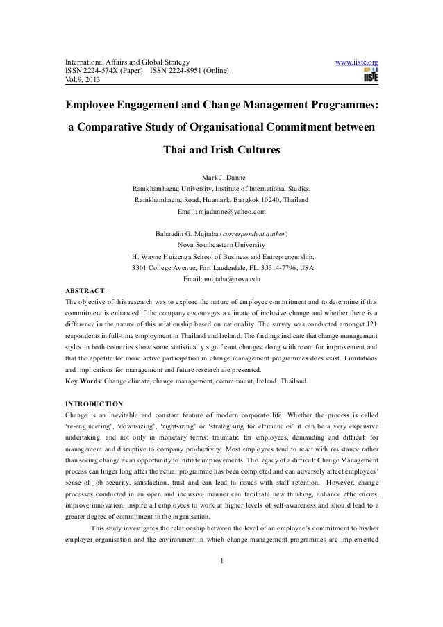 Employee engagement and change management programmes