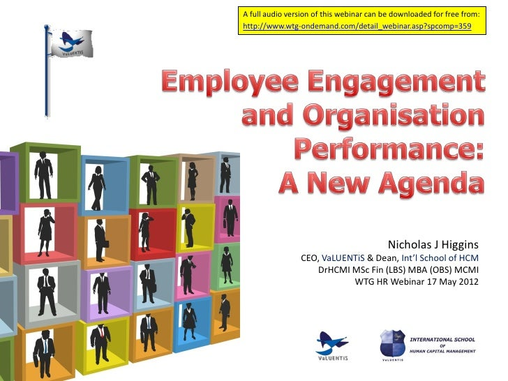 Employee engagement and organisation performance pres final2 inc polls slideshare