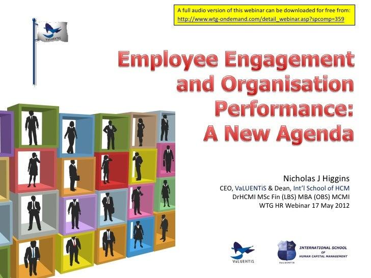 Employee engagement and organisation performance pres final2 inc polls slideshare