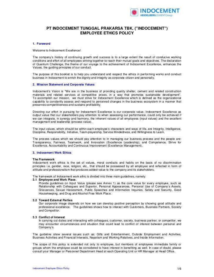 Employee ethics policy_eng
