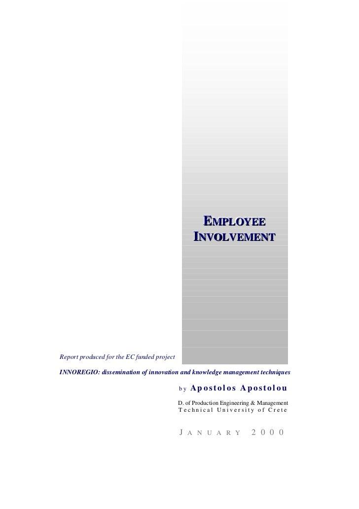 Employee involvement