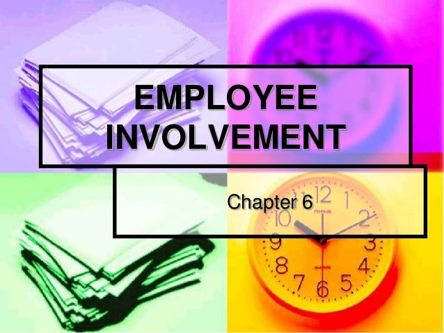 Employee involvement in tqm