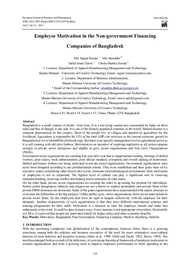 European Journal of Business and Management www.iiste.orgISSN 2222-1905 (Paper) ISSN 2222-2839 (Online)Vol.5, No.12, 20131...