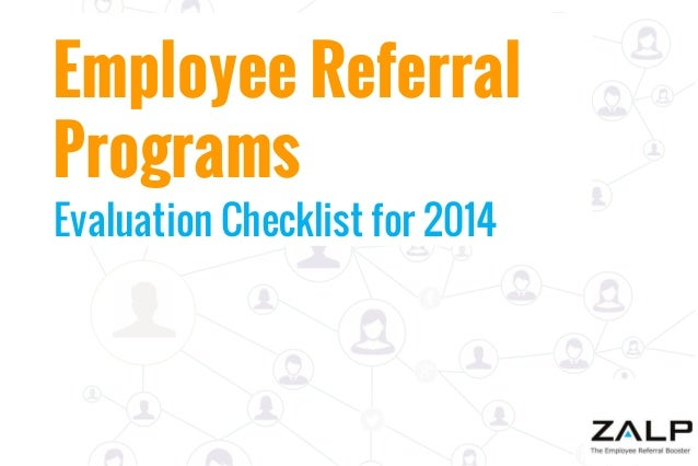 Employee Referral Programs Evaluation Checklist for 2014