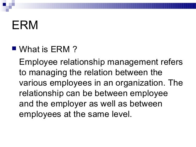 Case study employee employer relationship