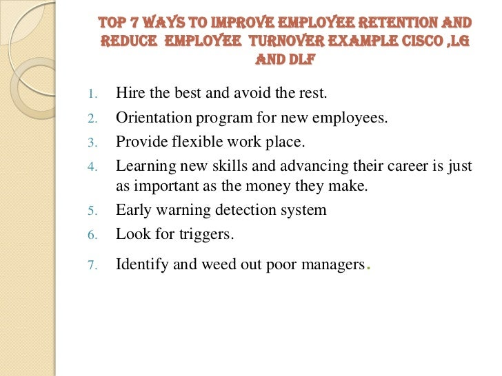 how to reduce employee turnover with motivation essay Leadership styles and employee turnover - research employee motivation, and commitment research the last section offers recommendations to reduce turnover.