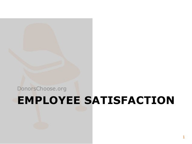 Results of DonorsChoose.org Employee Satisfaction Survey