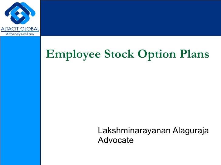 Employee stock option plan