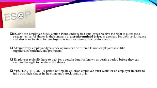 Stock options plan for employees
