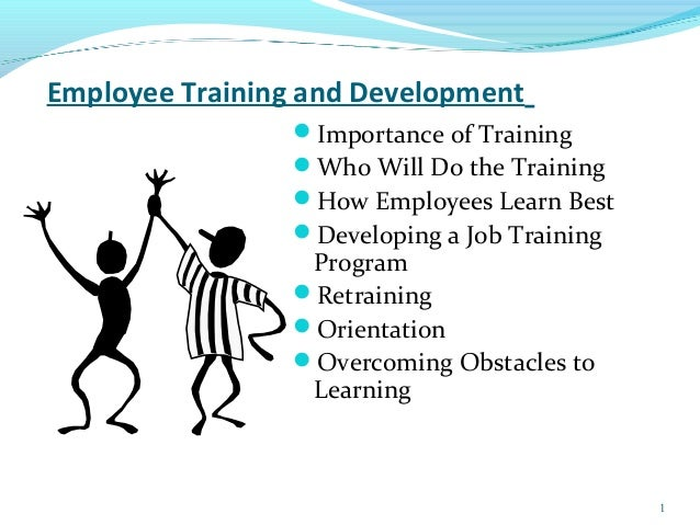 Employee training and development articles pdf