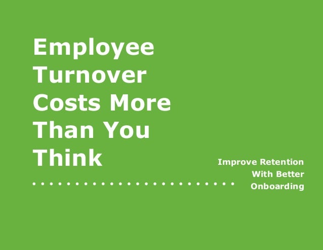 Employee Turnover Costs More Than You Think!