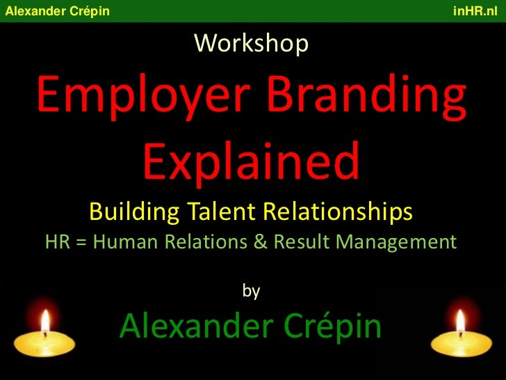 Employer Branding Workshop, building Talent Relationships