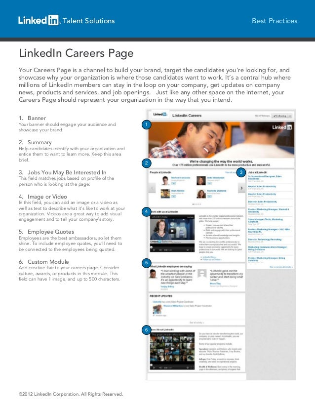Talent Solutions                                             Best PracticesLinkedIn Careers PageYour Careers Page is a cha...