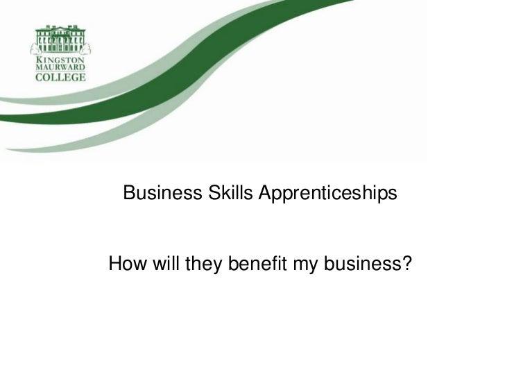 Kingston Maurward College Business Skills Apprenticeships