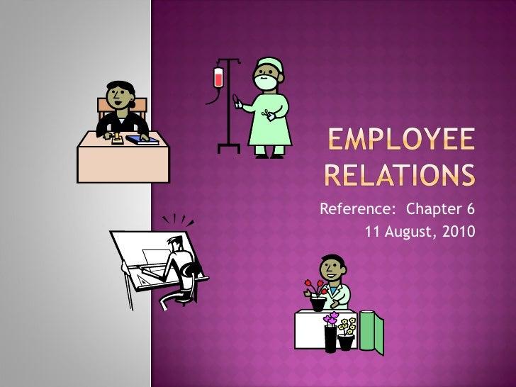 Employer relations 2010