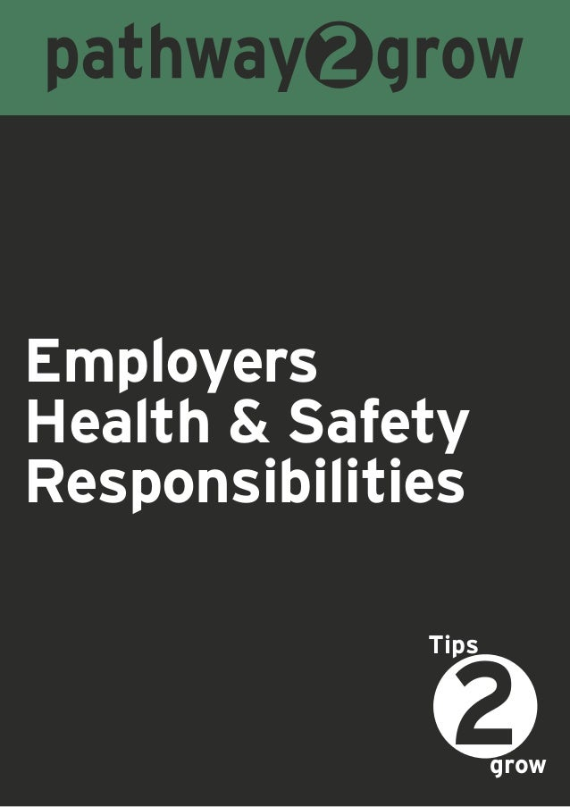 EmployersHealth & SafetyResponsibilitiesgrowTips