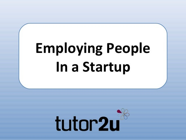 Employing People  In a Startup