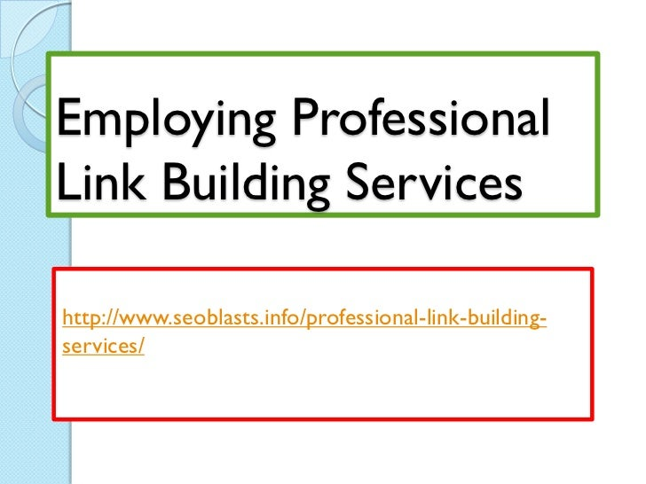 Employing professional link building services